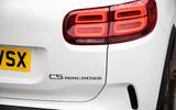 Citroen C5 Aircross Hybrid 2020 UK first drive review - rear lights