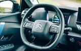 Citroen e C4 2020 LHD first drive review - steering wheel