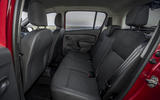 Dacia Sandero 2019 UK first drive review - rear seats