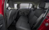 Dacia Sandero 2019 UK first drive review - rear seats