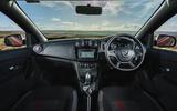 Dacia Sandero Stepway Techroad 2019 first drive review - cabin