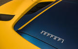 Ferrari 488 Pista Spider 2019 first drive review - engine cover