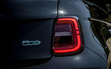 Fiat 500 electric 2021 first drive review - rear lights
