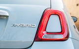 Fiat 500 Hybrid 2020 first drive review - rear lights
