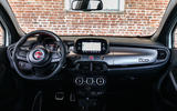 Fiat 500x Sport 2019 first drive review - dashboard