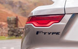 Jaguar F-Type 2020 UK first drive review - rear lights