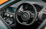 Jaguar F-Type MY2018 first drive review - steering wheel