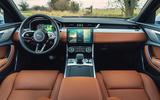 7 Jaguar XF 2021 UK first drive review dashboard