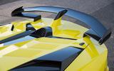 Lamborghini Aventador SVJ 2018 first drive review spoiler
