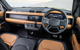 Land Rover Defender 90 P400 X 2020 UK first drive review - dashboard