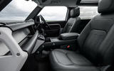 7 Land Rover Defender 90 D250 2021 UK first drive review cabin