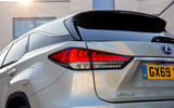 7 Lexus RX 450h L 2021 UK FD rear lights