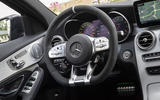 Mercedes-AMG C63 2018 first drive review steering wheel