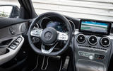 Mercedes-Benz C-Class C200 AMG Line 2018 UK review dashboard