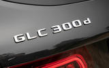 Mercedes-Benz GLC 300d 2019 first drive review - rear badge