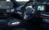 Mercedes-Benz GLS 400d 2019 UK first drive review - steering wheel