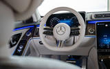 Mercedes-Benz S Class S580e 2020 first drive review - steering wheel