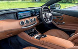 Mercedes-Benz S560 Coupe 2018 UK review dashboard