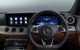 Mercedes-Benz E-Class E300de 2019 UK first drive review - dashboard