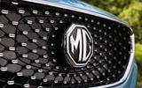 MG ZS EV 2019 UK first drive review - front badge