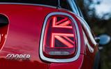 Mini Cooper 5dr 2018 UK review rear lights illuminated
