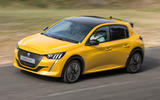 Peugeot 208 2020 prototype drive - on the road front