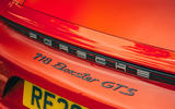 Porsche 718 Boxster GTS 4.0 2020 UK first drive review - rear badge