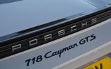 Porsche 718 Cayman GTS 2018 UK review rear badges