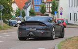 2020 Porsche 911 GT3 spotted testing rear