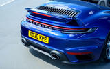 Porsche 911 Turbo S Cabriolet 2020 UK first drive review - rear rend
