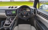 Porsche Cayenne Turbo S E-Hybrid 2020 UK first drive review - dashboard