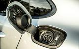 Porsche Panamera e-Hybrid 2020 UK first drive review - charging socket