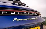 7 Porsche Panamera Turbo S E Hybrid ST 2021 UK FD rear badge