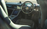 Porsche Taycan 4S 2020 UK first drive review - dashboard