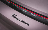 7 Porsche Taycan RWD 2021 UK first drive review rear badge