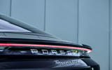 Porsche Taycan Turbo 2020 UK first drive review - rear LED bar