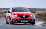 7 Renault Megane RS 300 EDC 2021 UK first drive review cornering front