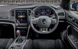 Renault Megane Sport 2020 UK first drive review - steering wheel