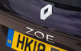 Renault Zoe R110 2018 UK first drive review boot logo