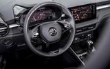 7 Skoda Fabia 2021 LHD UK first drive steering wheel