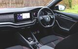 Skoda Octavia vRS iV 2020 UK First drive - dashboard
