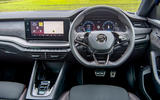 Skoda Octavia vRS TDI 2021 UK first drive review - dashboard