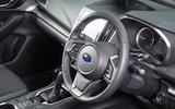 Subaru Impreza 2018 UK review steering wheel