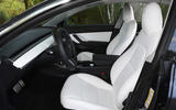 Tesla Model 3 Performance 2019 UK first drive review - front seats