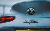 7 Toyota GR Supra 2 litre 2021 UK first drive review rear badge