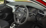 Vauxhall Corsa-e 2020 UK first drive review - steering wheel