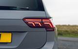 Volkswagen Tiguan Life 2020 UK first drive review - rear lights
