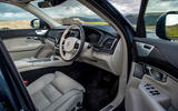 Volvo XC90 B5 petrol 2020 UK first drive review - cabin