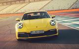 2019 Porsche 911 Carrera S track drive - track nose