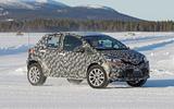 2021 Toyota small SUV prototype - cornering front